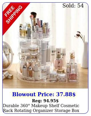 durable makeup shelf cosmetic rack rotating organizer storage cas