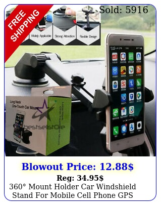 mount holder car windshield stand mobile cell phone gps iphone samsun