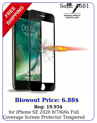 iphone se s full coverage screen protector tempered glass blac