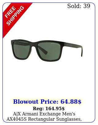 ax armani exchange men's axs rectangular sunglasses blackgrey gree