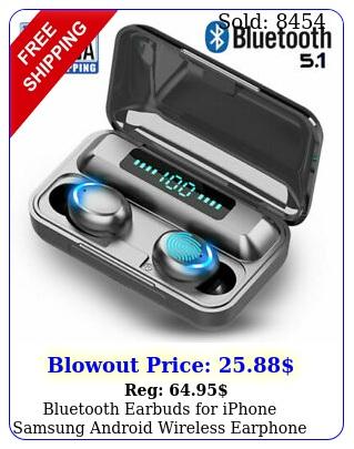 bluetooth earbuds iphone samsung android wireless earphone ipx waterproo