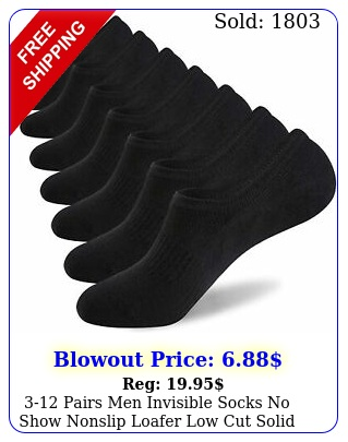pairs men invisible socks no show nonslip loafer low cut solid cotto