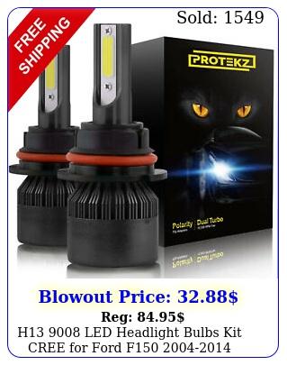 h led headlight bulbs kit cree ford f highlow beam