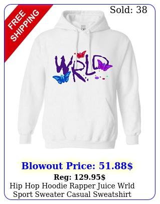 hip hop hoodie rapper juice wrld sport sweater casual sweatshirt druggerfl