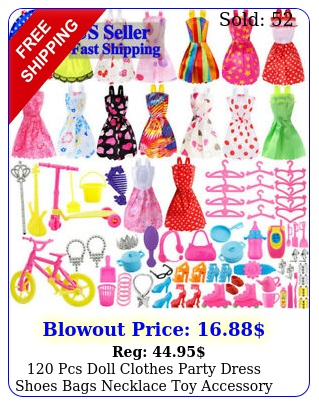 pcs doll clothes party dress shoes bags necklace toy accessory set xmas gif