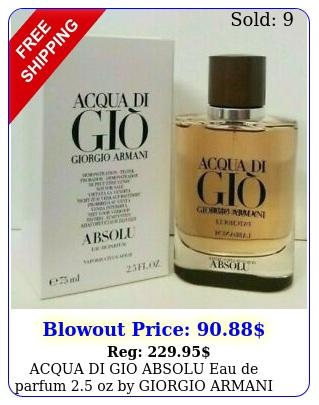 acqua di gio absolu eau de parfum oz by giorgio armani in tst