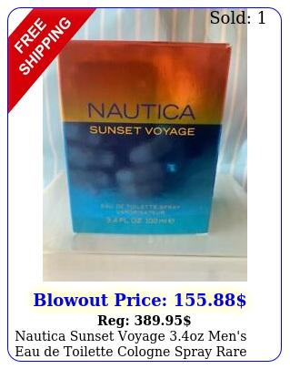 nautica sunset voyage oz men's eau de toilette cologne spray rar