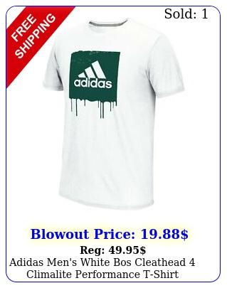 adidas men's white bos cleathead climalite performance tshir