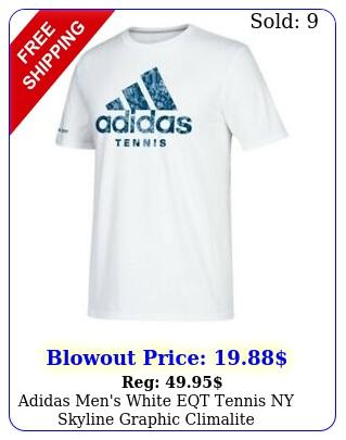 adidas men's white eqt tennis ny skyline graphic climalite performance tshir