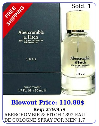 abercrombie fitch eau de cologne spray men oz ml discontinue