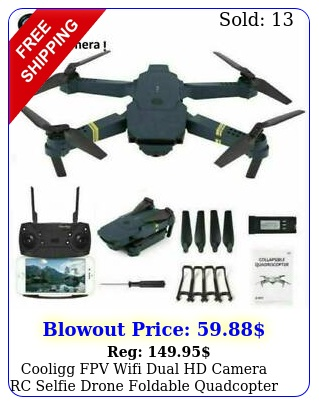 cooligg fpv wifi dual hd camera rc selfie drone foldable quadcopter k p to