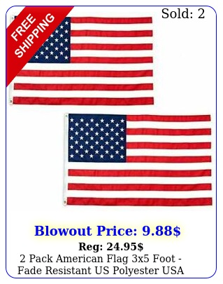 pack american flag x foot fade resistant us polyester usa flags with bras