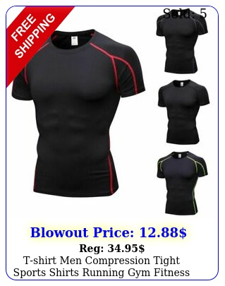 tshirt men compression tight sports shirts running gym fitness workout top