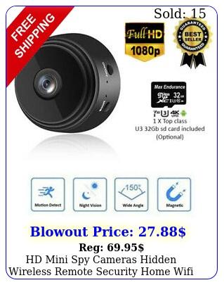 hd mini spy cameras hidden wireless remote security home wifi dvr night visio