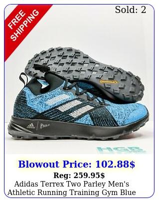 adidas terrex two parley men's athletic running training gym blue black f