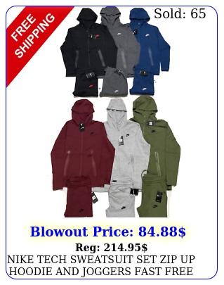 nike tech sweatsuit set zip up hoodie joggers fast free shipping track sui