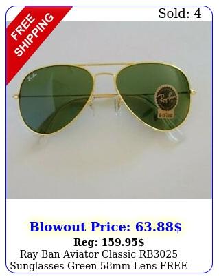 ray ban aviator classic rb sunglasses green mm lens free shippin