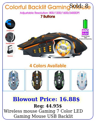 wireless mouse gaming color led gaming mouse usb backlit rechargeable p
