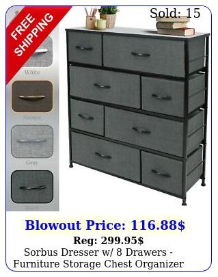sorbus dresser w drawers furniture storage chest organizer unit bedroo