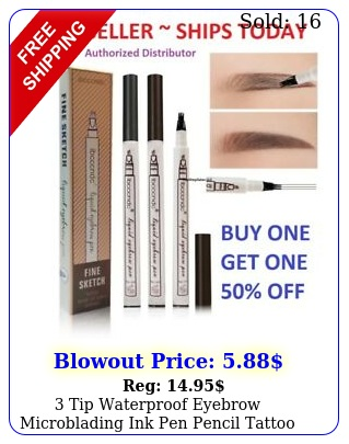 tip waterproof eyebrow microblading ink pen pencil tattoo d fork makeu