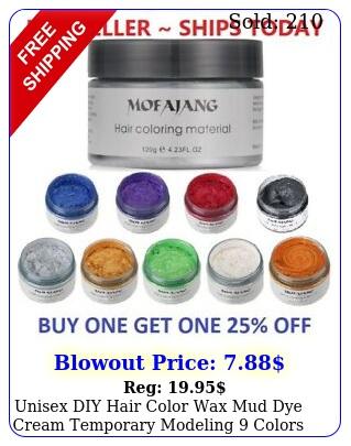 unisex diy hair color wax mud dye cream temporary modeling colors mofajan
