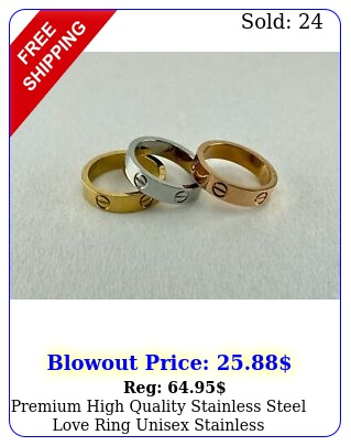 premium high quality stainless steel love ring unisex stainles