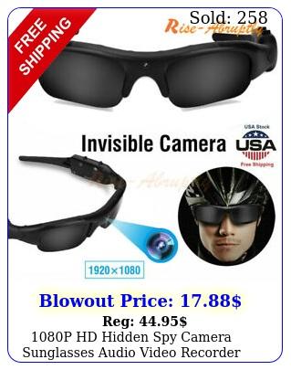 p hd hidden spy camera sunglasses audio video recorder dvr glasses eyewea