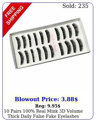 pairs real mink d volume thick daily false fake eyelashes strip lashe