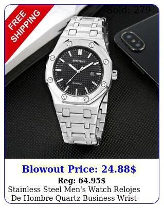 stainless steel men's watch relojes de hombre quartz business wrist watche
