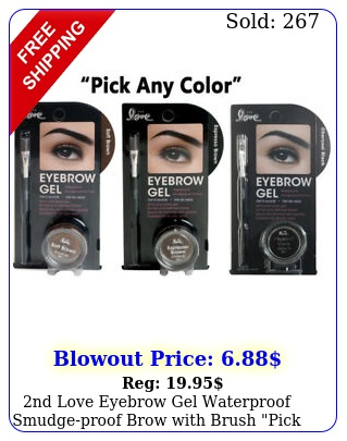 nd love eyebrow gel waterproof smudgeproof brow with brush pick your colo