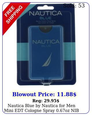 nautica blue by nautica men mini edt cologne spray oz ni