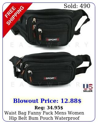 waist bag fanny pack mens women hip belt bum pouch waterproof sport travel purs