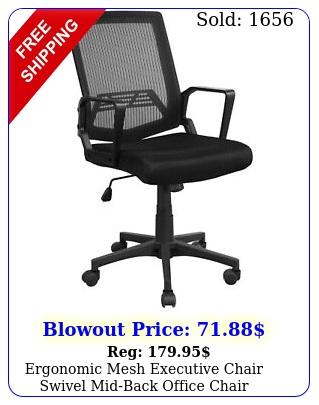 ergonomic mesh executive chair swivel midback office chair computer chair blac