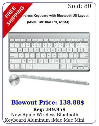 apple wireless bluetooth keyboard aluminum imac mac mini a mcllb a