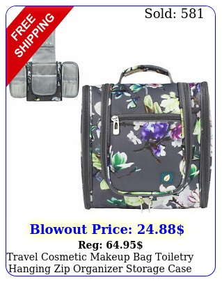 travel cosmetic makeup bag toiletry hanging zip organizer storage case pouc