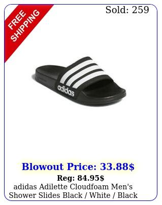 adidas adilette cloudfoam men's shower slides black white black a
