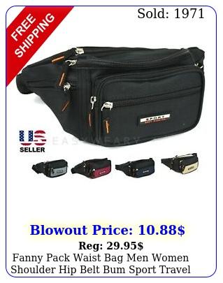 fanny pack waist bag men women shoulder hip belt bum sport travel waterproo