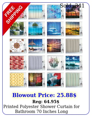 printed polyester shower curtain bathroom inches lon