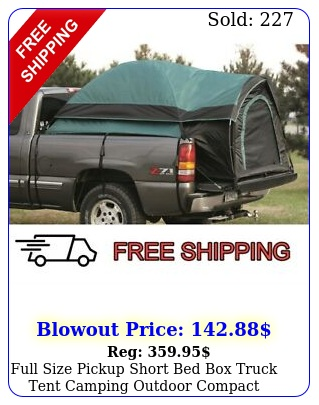 full size pickup short bed truck tent camping outdoor compact truc
