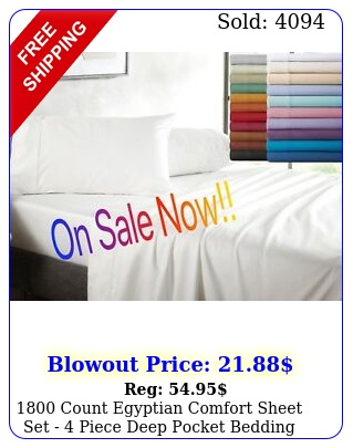 count egyptian comfort sheet set  piece deep pocket bedding o