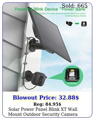 solar power panel blink xt wall mount outdoor security camera weatherproof us