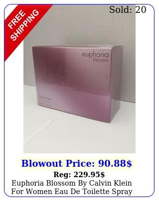 euphoria blossom by calvin klein women eau de toilette spray ozm