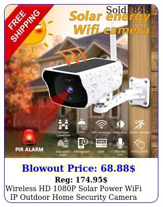 wireless hd p solar power wifi ip outdoor home security camera night visio