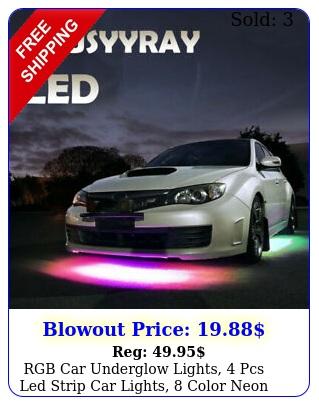 rgb car underglow lights pcs led strip car lights color neon accent lig