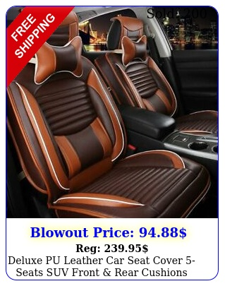 deluxe pu leather car seat cover seats suv front rear cushions wpillows se