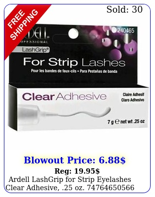 ardell lashgrip strip eyelashes clear adhesive o