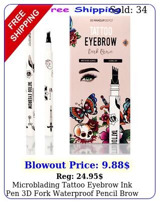microblading tattoo eyebrow ink pen d fork waterproof pencil brow dark brow