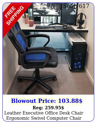 leather executive office desk chair ergonomic swivel computer chair gaming chai