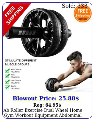 ab roller exercise dual wheel home gym workout equipment abdominal core fitnes