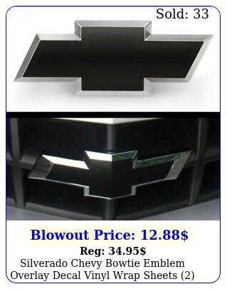 silverado chevy bowtie emblem overlay decal vinyl wrap sheets any yea